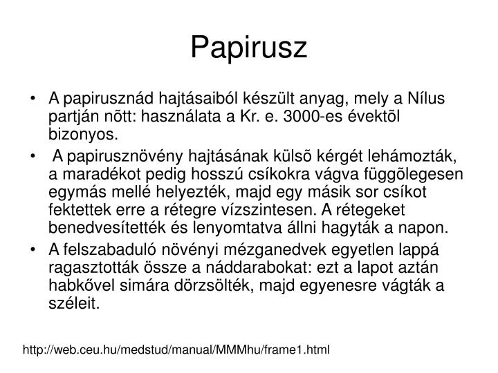 Papirusz