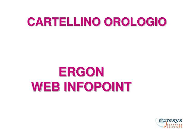 CARTELLINO OROLOGIO