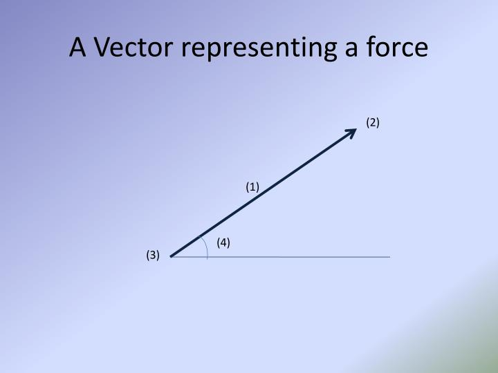 A Vector representing a force