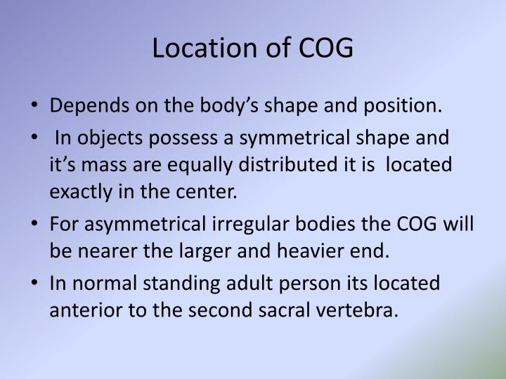 Location of COG