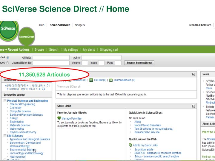 SciVerse Science Direct // Home
