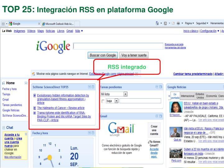 RSS integrado