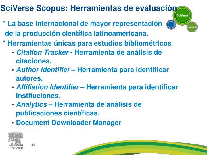 SciVerse Scopus: Herramientas de evaluación