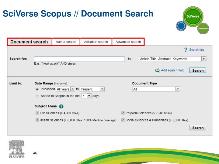 SciVerse Scopus // Document Search