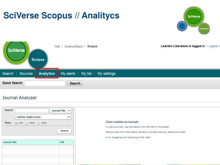 SciVerse Scopus // Analitycs