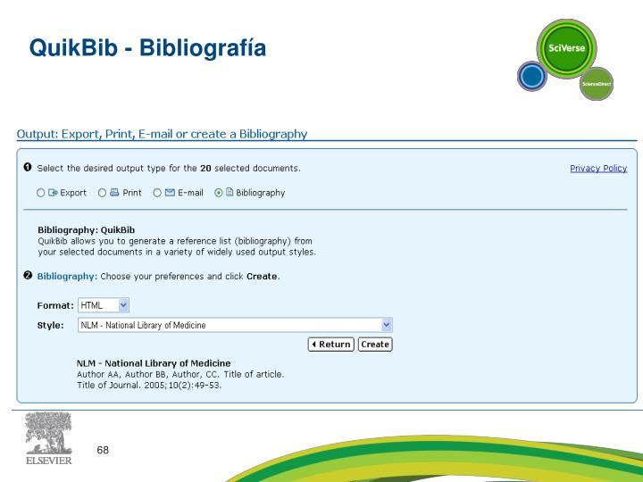 QuikBib - Bibliografía