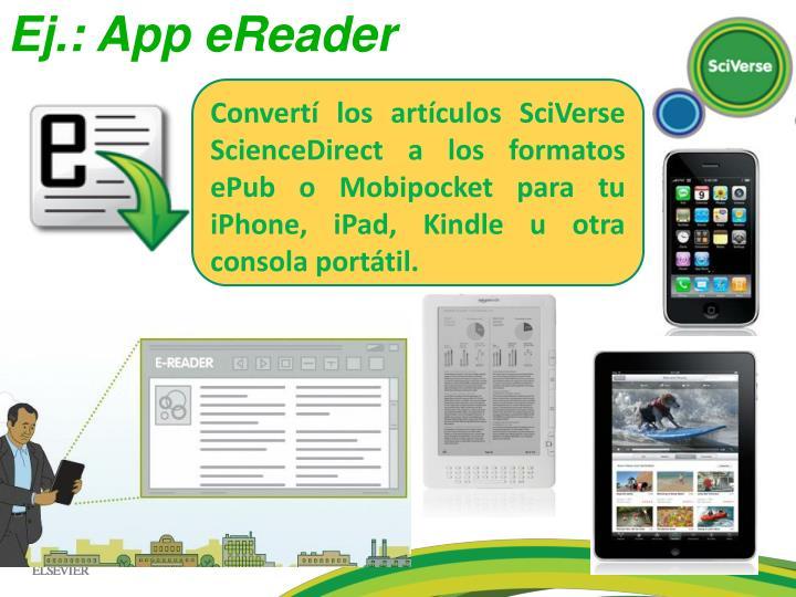 Ej.: App eReader