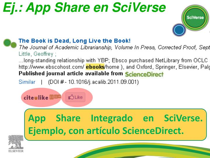 Ej.: App Share en SciVerse