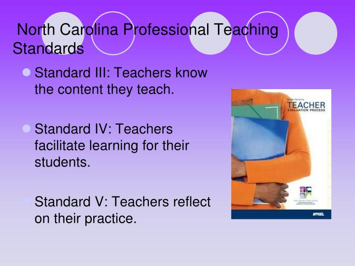 North carolina professional teaching standards