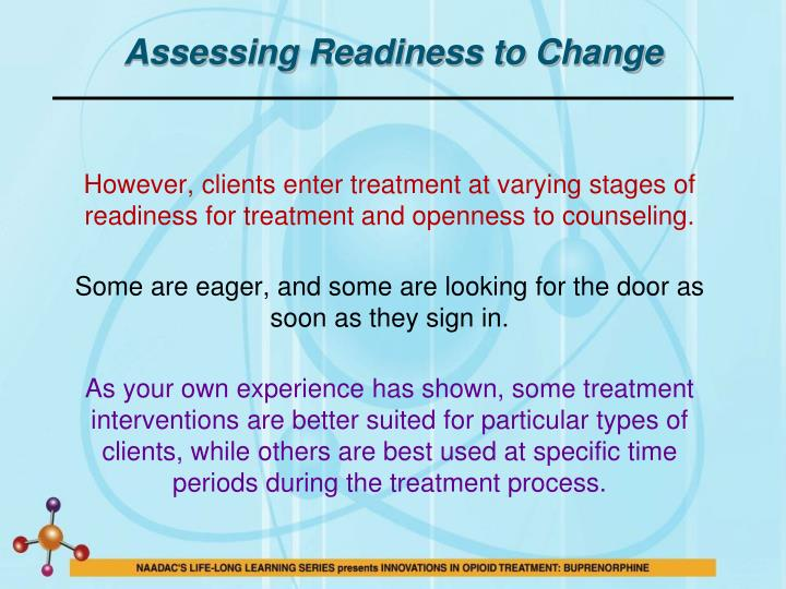 Assessing Readiness to Change
