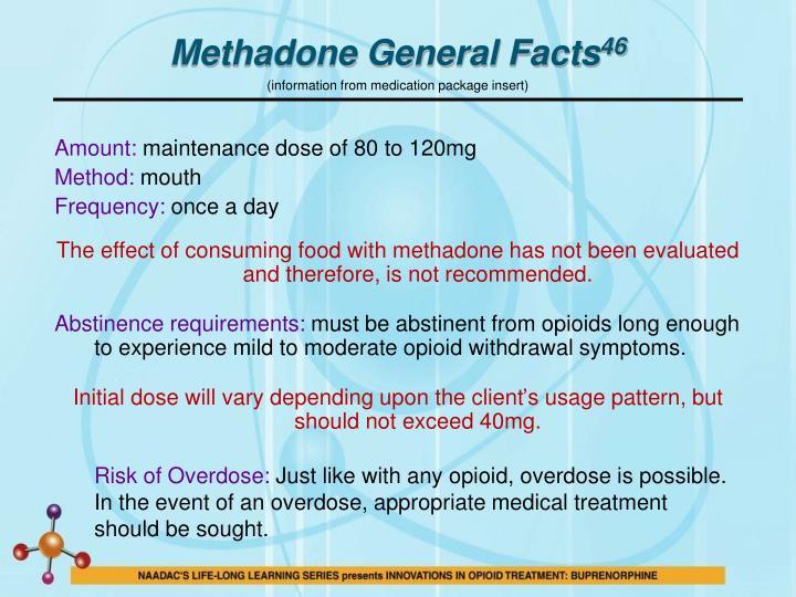 Methadone General Facts