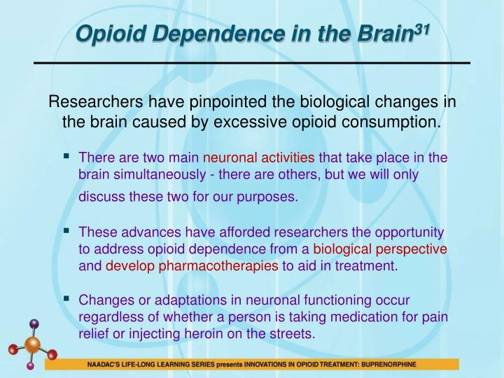 Opioid Dependence in the Brain