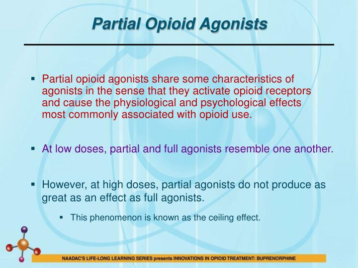 Partial Opioid Agonists