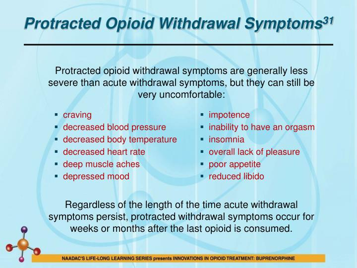 Protracted Opioid Withdrawal Symptoms