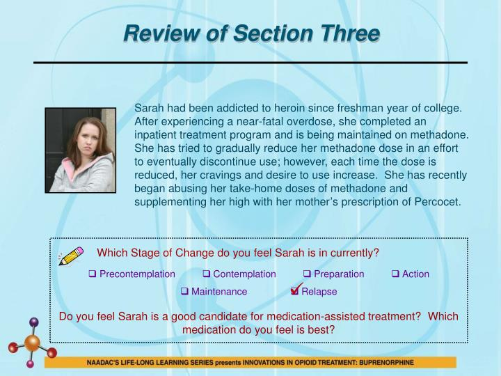 Review of Section Three