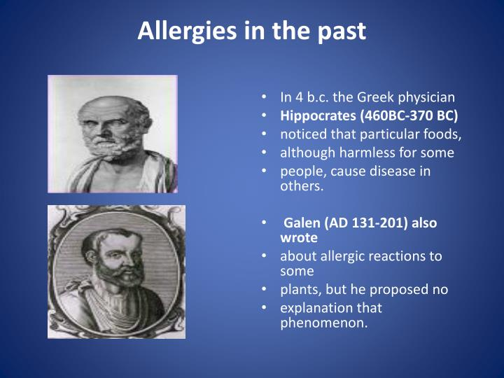 Allergies in the past