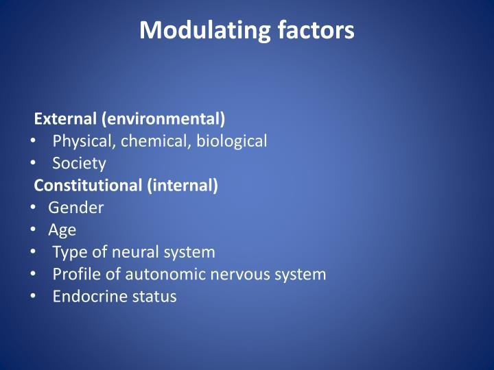 Modulating factors