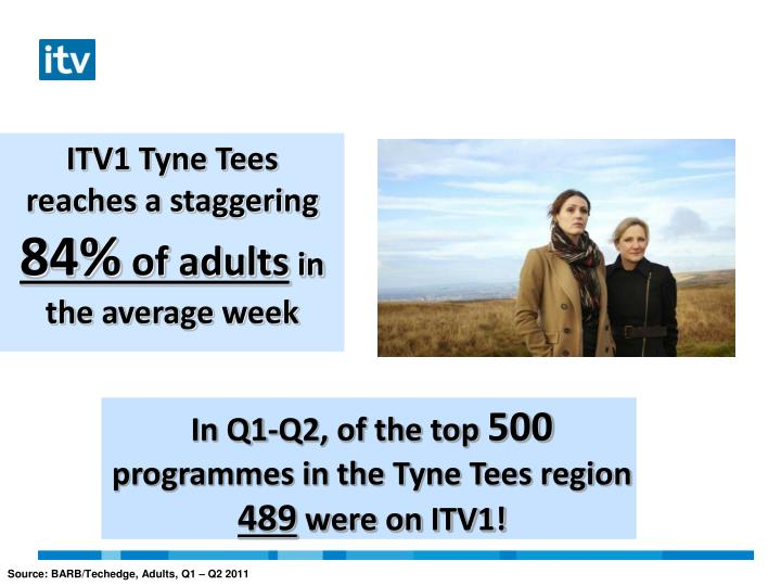 ITV1 Tyne Tees reaches a staggering