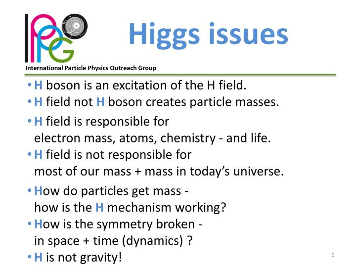 Higgs issues
