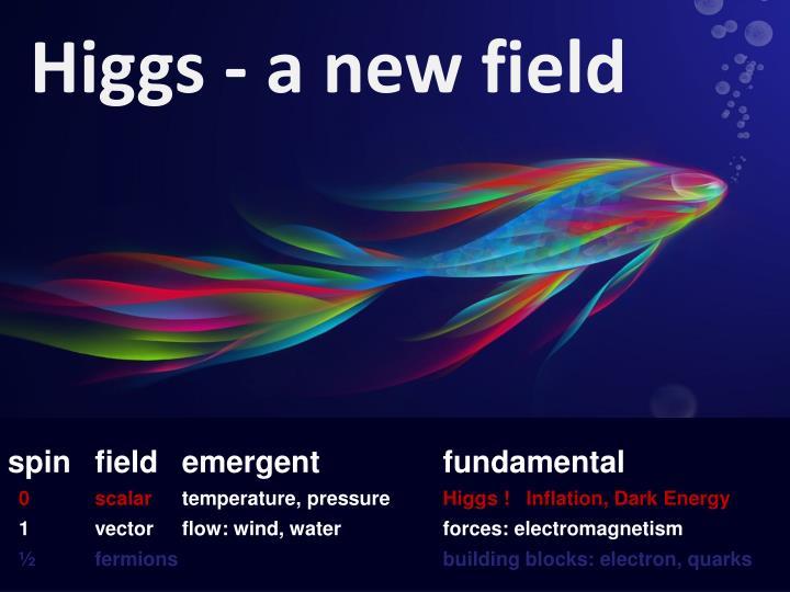 Higgs - a new field