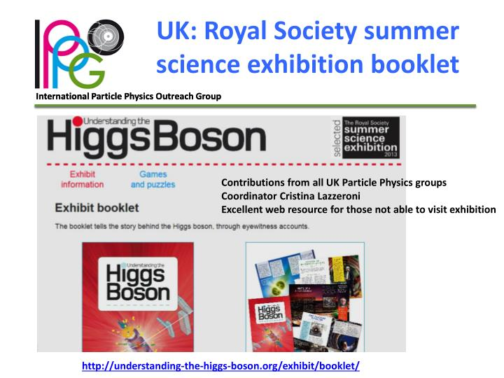 UK: Royal Society summer science exhibition booklet
