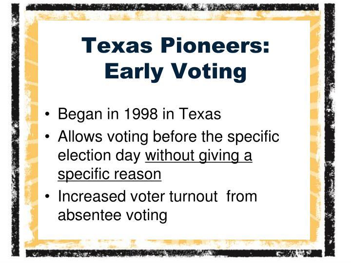 Texas Pioneers: