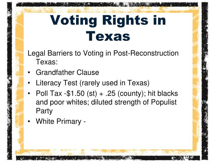 Voting Rights in Texas