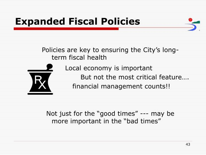 Expanded Fiscal Policies