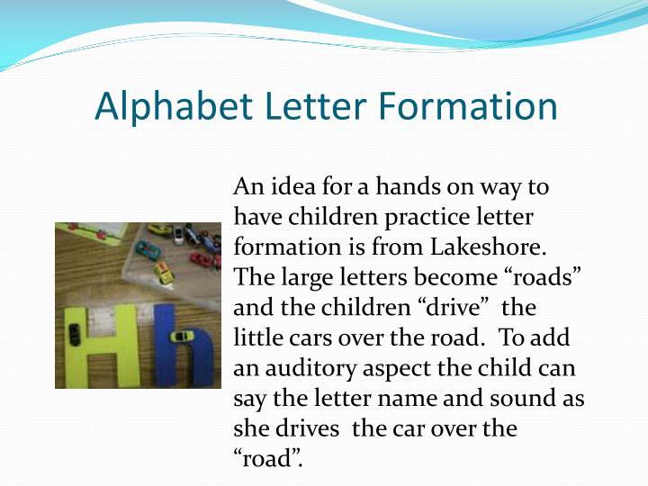 Alphabet Letter Formation