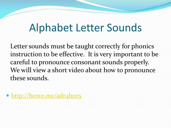 Alphabet Letter Sounds