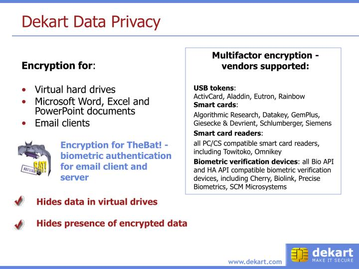 Dekart Data Privacy