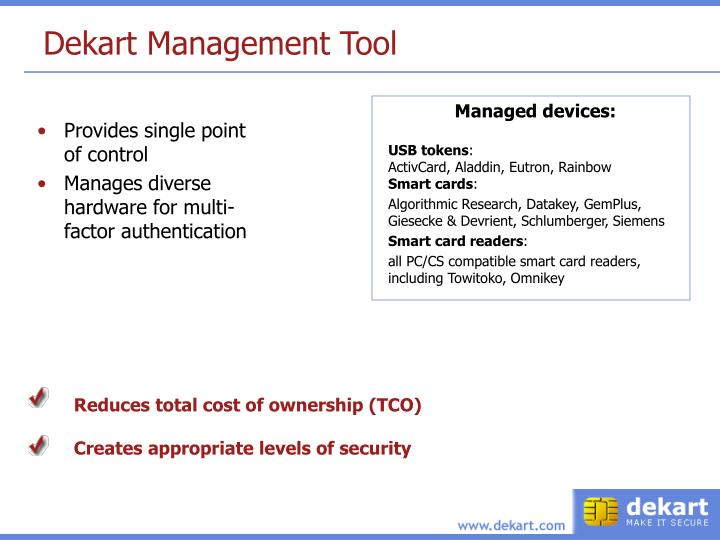 Dekart Management Tool