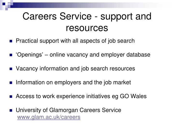 Careers Service - support and resources