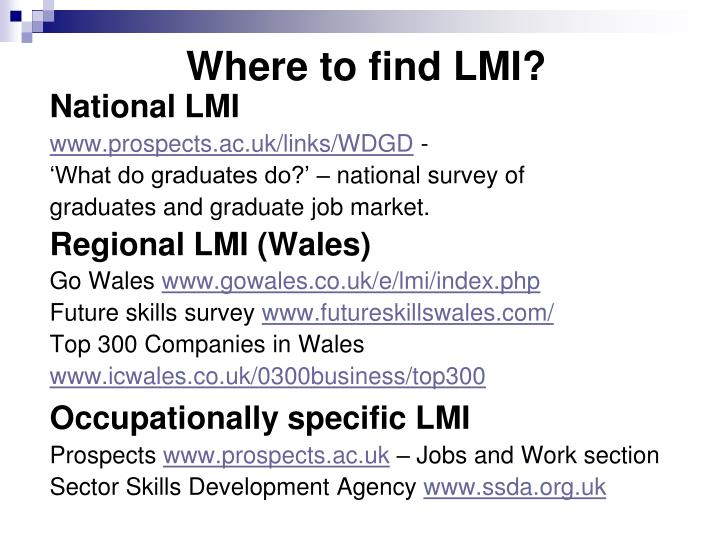 Where to find LMI?