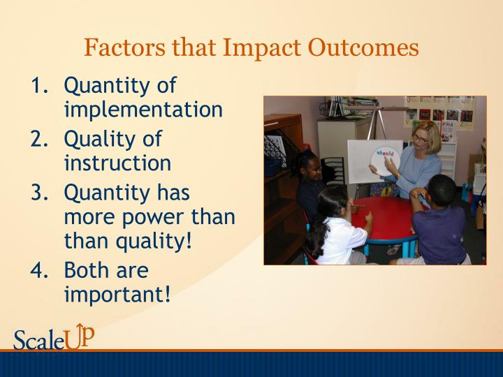 Factors that Impact Outcomes