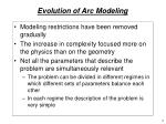 evolution of arc modeling1