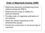 order of magnitude scaling oms