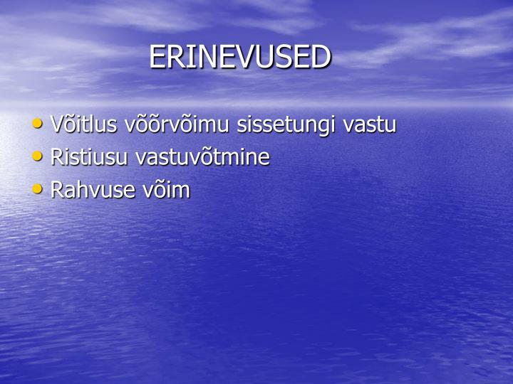 ERINEVUSED