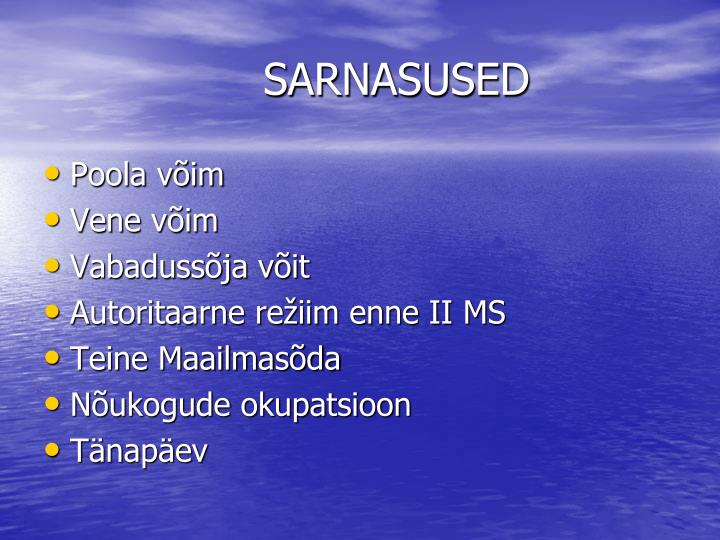 SARNASUSED