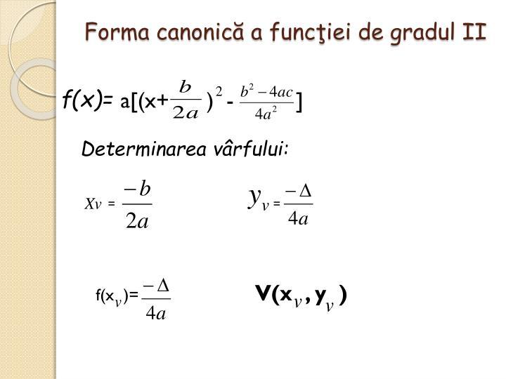 Forma canonic