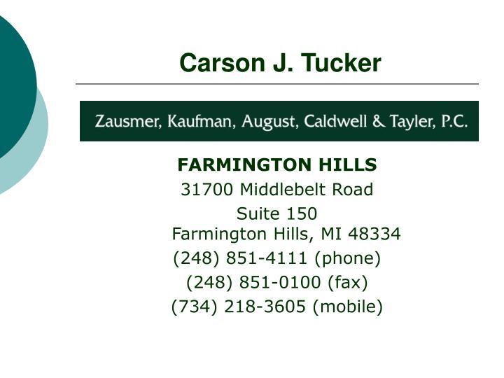 Carson J. Tucker