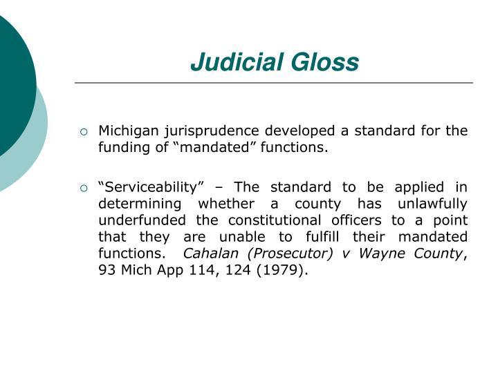 Judicial Gloss