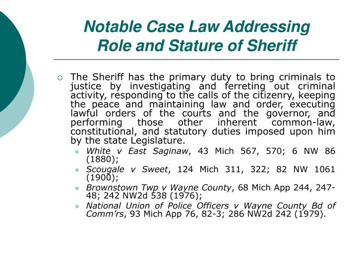 Notable Case Law Addressing