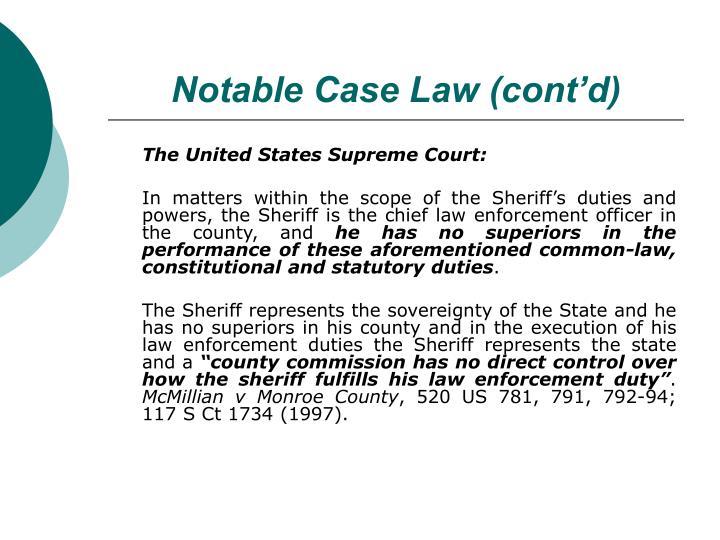 Notable Case Law (cont'd)