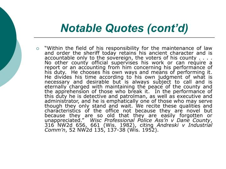 Notable Quotes (cont'd)