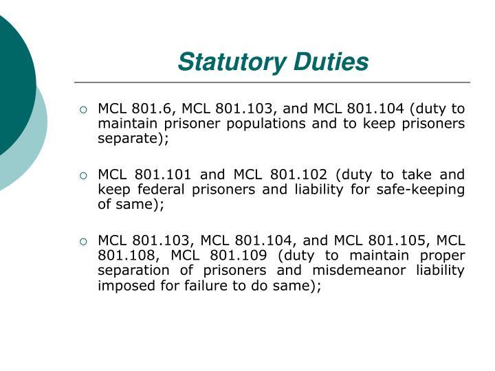 Statutory Duties