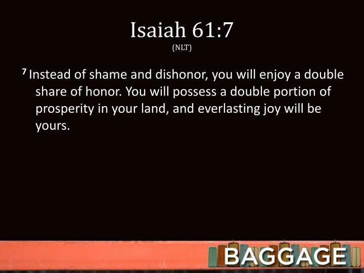 Isaiah 61:7