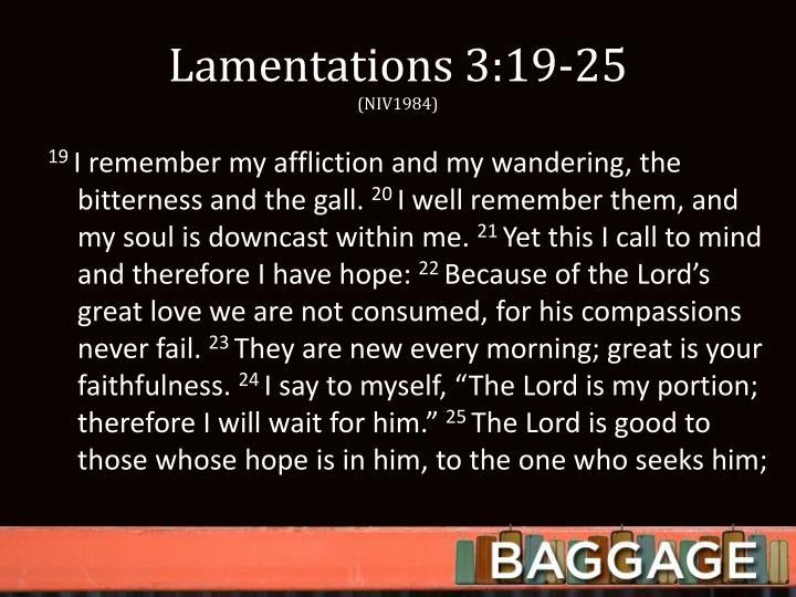 Lamentations 3:19-25