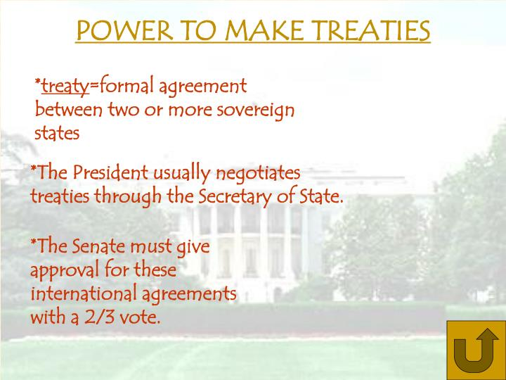 POWER TO MAKE TREATIES
