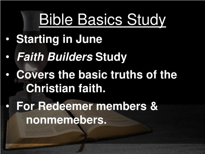 Bible Basics Study